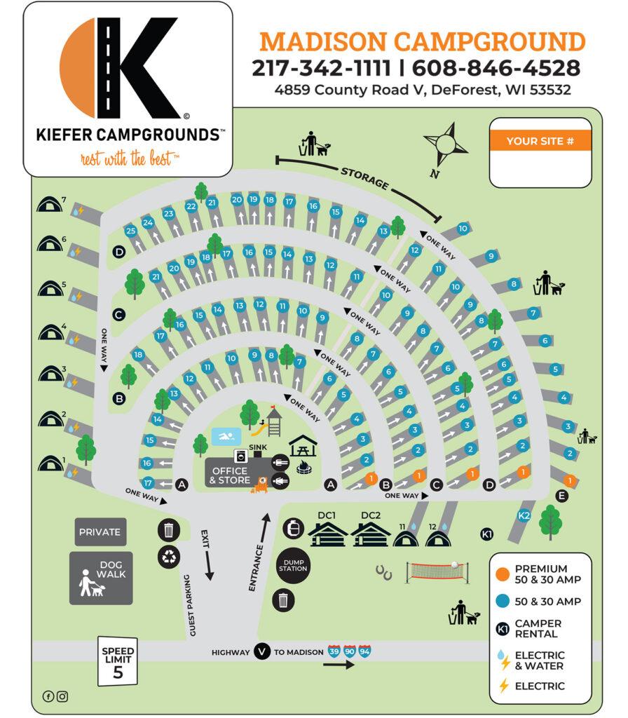 Madison Campground Map